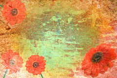 Abstract vintage paper with flower motives. Abstract vintage flower background illustration Royalty Free Stock Images