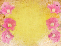 Abstract vintage paper with flower motives. Abstract vintage flower background illustration Stock Photography