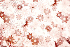 Abstract vintage paper with flower motives Royalty Free Stock Photography
