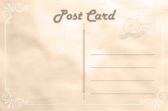 Abstract vintage paper postcard Royalty Free Stock Photos