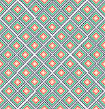 Abstract vintage pattern. Green red rural geometric ornament. Digital background vector pattern Royalty Free Stock Images