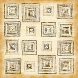 Abstract vintage pattern with squares Royalty Free Stock Image
