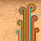 Abstract Vintage Rainbow Background Stock Photos