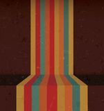 Abstract Vintage Rainbow Lines Royalty Free Stock Photos