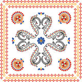 Abstract vintage/rangoli design Stock Photos
