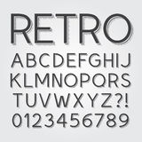 Abstract Vintage Retro Font And Numbers Stock Images