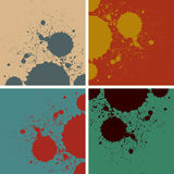 Abstract vintage retro watercolor splashes Stock Images