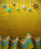 Abstract vintage scene with stars. Abstract vintage scene of stars, ideal for posters, advertising and post cards Royalty Free Stock Images