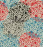 Abstract vintage seamless background with circles of dots. Retro grunge pattern Royalty Free Stock Image