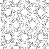 Abstract vintage seamless background with mandala ornaments. Royalty Free Stock Image