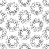 Abstract vintage seamless background with mandala ornaments. Stock Photos