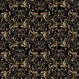 Abstract vintage seamless damask pattern Royalty Free Stock Image