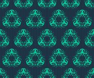 Abstract vintage seamless damask pattern Stock Image