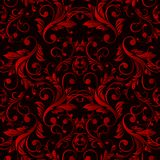 Abstract vintage seamless damask pattern Stock Photos