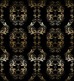 Abstract vintage seamless damask pattern Royalty Free Stock Images