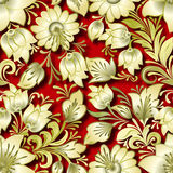 Abstract vintage seamless floral ornament Royalty Free Stock Photos