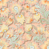 Abstract vintage seamless floral ornament Stock Image