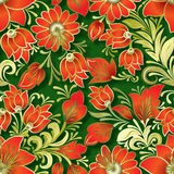 Abstract vintage seamless floral ornament Stock Photo