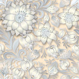 Abstract vintage seamless floral ornament Royalty Free Stock Images