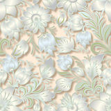 Abstract vintage seamless floral ornament Stock Photos