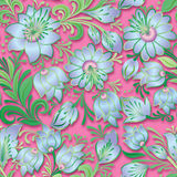 Abstract vintage seamless spring floral ornament Stock Images