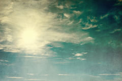 Abstract vintage sky background Royalty Free Stock Images