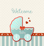 Abstract Vintage Stroller, Baby Shower Stock Image