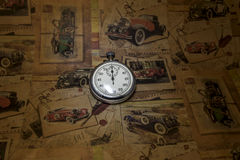 Abstract vintage time conceptual Stock Image