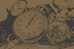 Abstract vintage time conceptual Royalty Free Stock Photo