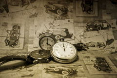 Abstract vintage time conceptual Stock Photo