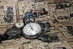 Abstract vintage time conceptual Royalty Free Stock Images