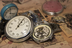Abstract vintage time conceptual Royalty Free Stock Image