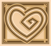 Abstract vintage vector heart Stock Photography