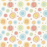 Abstract vintage vector seamless pattern - color c Royalty Free Stock Photography