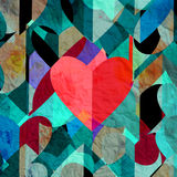 Abstract vintage watercolor heart Stock Photography