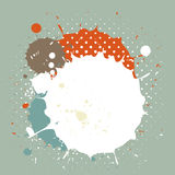 Abstract vintage watercolor splash Stock Photography