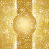 Abstract vintage winter background. Abstract golden white winter background Stock Image