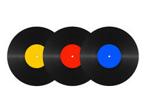 Abstract vinyl discs Royalty Free Stock Image