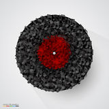 Abstract vinyl disk made of notes. Vector Royalty Free Stock Photography