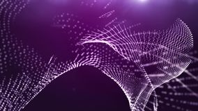 Abstract violet background with spinning dots stock video footage