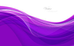 Abstract violet background with wave. Vector illustration Royalty Free Stock Photos