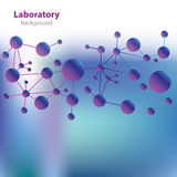 Abstract violet-blue laboratory background. Royalty Free Stock Photography