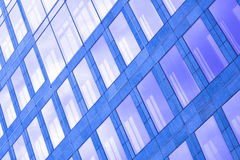 Abstract violet crop of skyscraper Royalty Free Stock Image