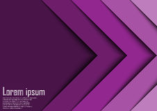 Abstract violet 3d arrow wave line certificate abstract backgrou stock photography