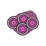Abstract violet and gray circles. On white background royalty free illustration