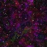 Abstract violet heelal Purpere nevel sterrige hemel Magenta kosmische ruimte Galactische textuurachtergrond Naadloze vector Royalty-vrije Stock Foto