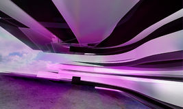 Abstract violet horizontal lines Royalty Free Stock Image