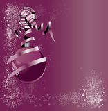 Abstract violet illustration with xmas balls Stock Photography