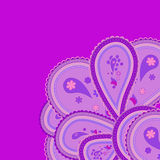 Abstract violet-lilac ornament with paisleys Stock Image