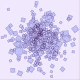 Abstract violet mess vector illustration